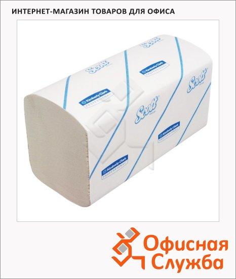 Бумажные полотенца Kimberly-Clark Scott 6775, листовые, 320шт, 1 слой, белые