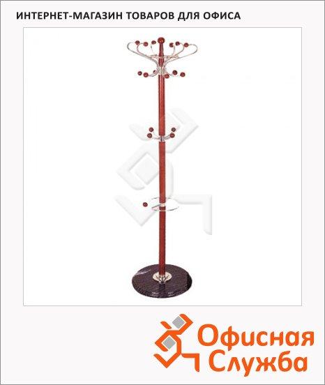 Вешалка-стойка напольная Tetchair XY-018, 1800х390мм, орех