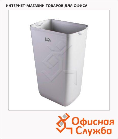 Контейнер для мусора подвесной Lime Satin 23л, серый, А 74201SATS