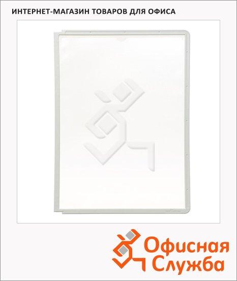 Панель для демосистем Durable Sherpa А4, серая, 5 шт, 5606-10