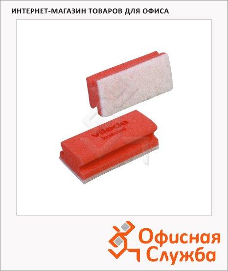 Губка Vileda Pro Виледа 7х15см, мягкая, белый абразив, красная, 102563