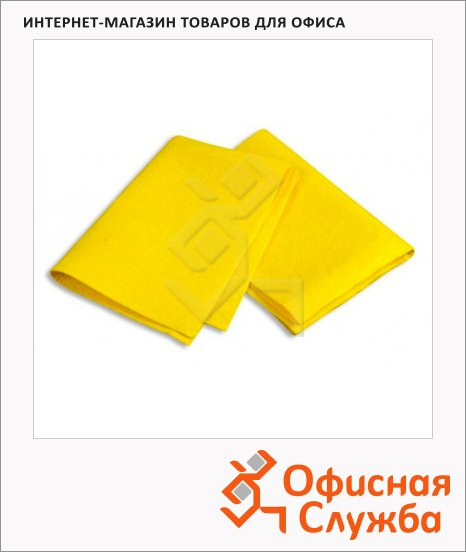 фото: Тряпка для мытья пола Bagi 50х70см вискоза/ полипропилен/ полиэстер, желтая
