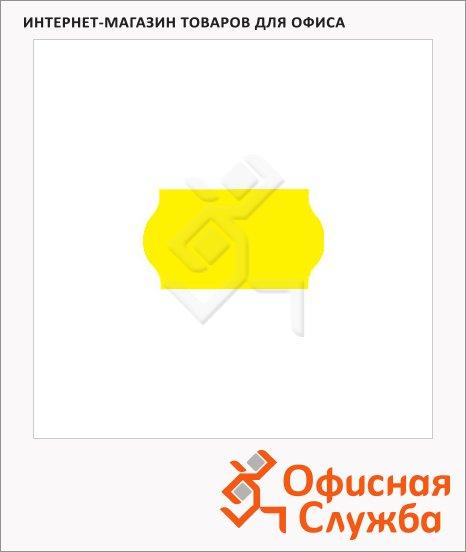 фото: Этикет-лента волнистая 12х22мм 1000шт/рул, 10рул, желтая