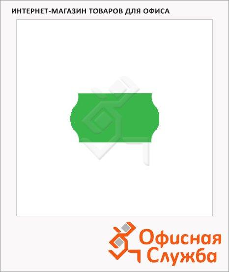 фото: Этикет-лента волнистая 12х22мм 1000шт/рул, 10рул, зеленая