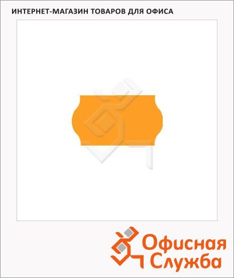Этикет-лента волнистая 12х22мм, 1000шт/рул, 10рул, оранжевая