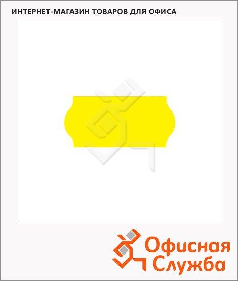 Этикет-лента волнистая 12х26мм, 1000шт/рул, 10рул, желтая