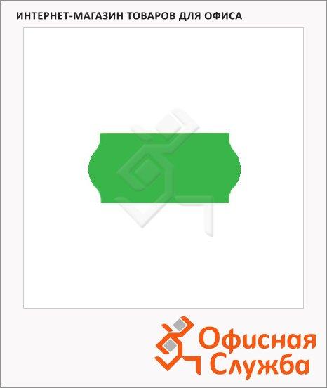 Этикет-лента волнистая 12х26мм, 1000шт/рул, 10рул, зеленая
