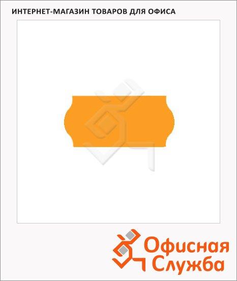 Этикет-лента волнистая 12х26мм, 1000шт/рул, 10рул, оранжевая