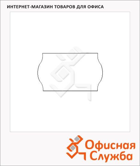 Этикет-лента волнистая 16х26мм, 1000шт/рул, 10рул, белая