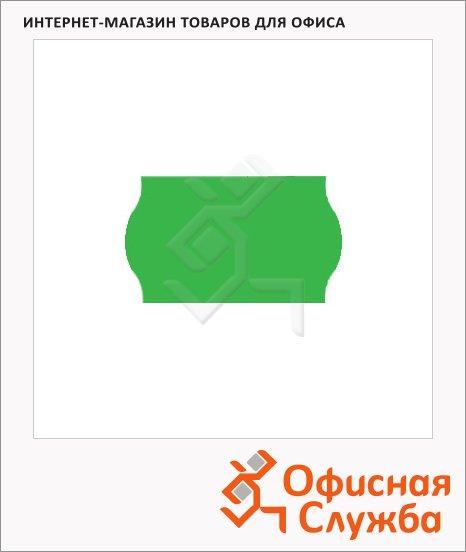 Этикет-лента волнистая 16х26мм, 1000шт/рул, 10рул, зеленая