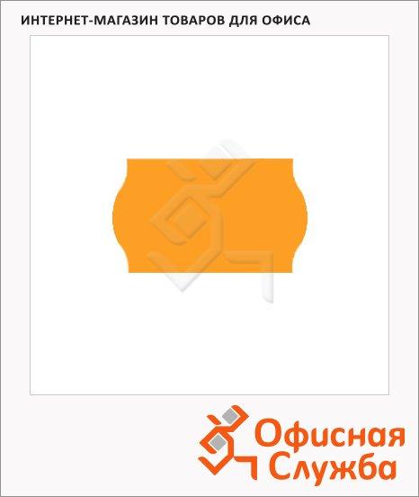 Этикет-лента волнистая 16х26мм, 1000шт/рул, 10рул, оранжевая