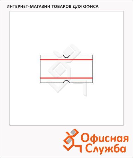 Этикет-лента с полосками 12х21.5мм, белая, 1000шт/рул, 10рул