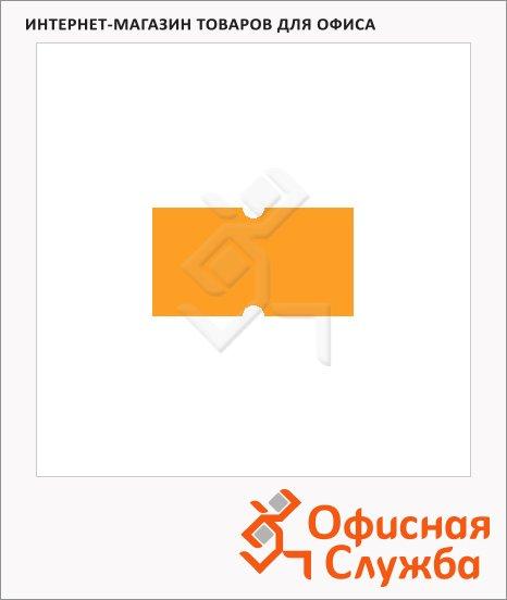 фото: Этикет-лента с выемками 12х21.5мм 1000шт/рул, 10рул, оранжевая