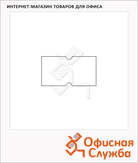 фото: Этикет-лента с выемками 12х21.5мм 1000шт/рул, 10рул, белая