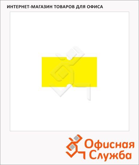 фото: Этикет-лента с выемками 12х21.5мм 1000шт/рул, 10рул, желтая