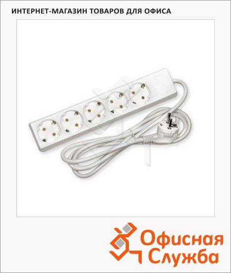 фото: Удлинитель электрический 5 розеток 2м, белый