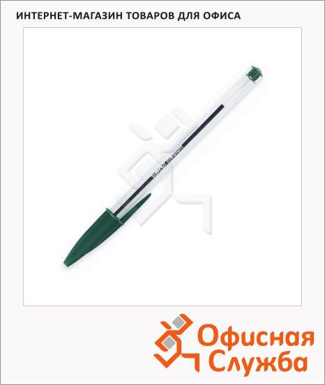 Ручка шариковая Bic Cristal зеленая, 0.4мм
