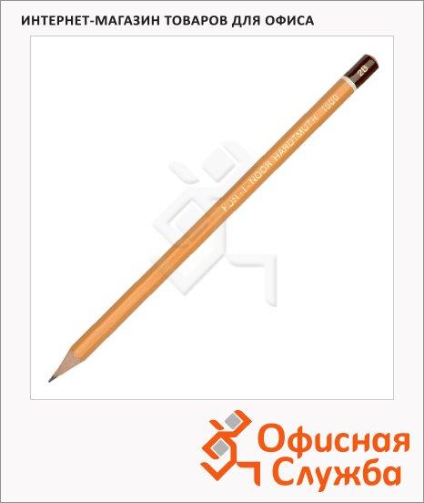 Карандаш чернографитный Koh-I-Noor 1500 2B, заточенный