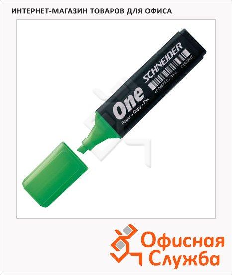 фото: Текстовыделитель Schneider One зеленый 1-4.5мм, скошенный наконечник