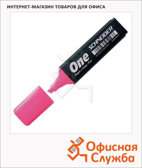 фото: Текстовыделитель Schneider One розовый 1-4.5мм, скошенный наконечник