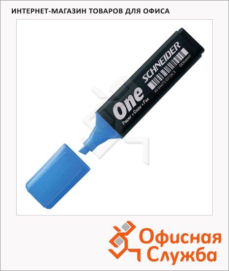 Текстовыделитель Schneider One синий, 1-4.5мм, скошенный наконечник