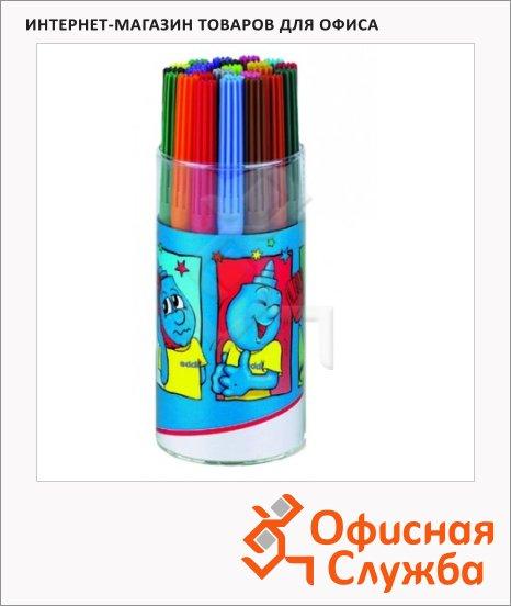 фото: Фломастеры E-1010 24 цвета смываемые, в пластиковом стакане