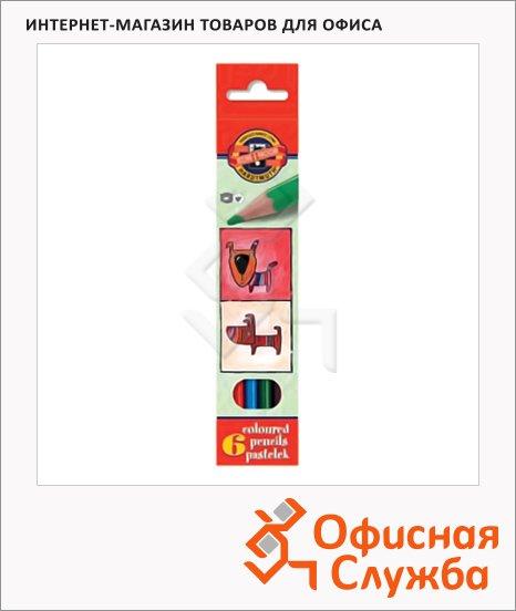 Набор цветных карандашей Koh-I-Noor 6 цветов, 3591