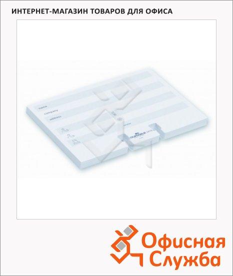 Карточки для картотеки Durable Telindex на 100 карточек, белый, 72х104мм, 2419-02