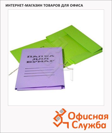 Картонная папка на завязках Attache цветная, А4, до 200 листов