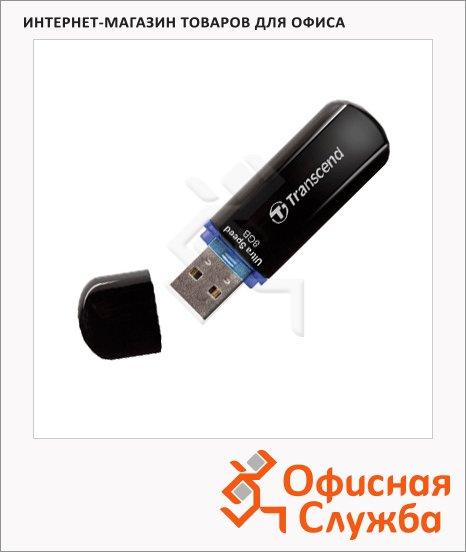 Флеш-накопитель Transcend JetFlash 330 8Gb, 32/12 мб/с, черно-синий