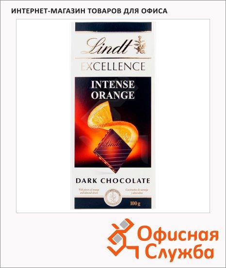 Шоколад Lindt Lindor темный, апельсин миндаль, 100г