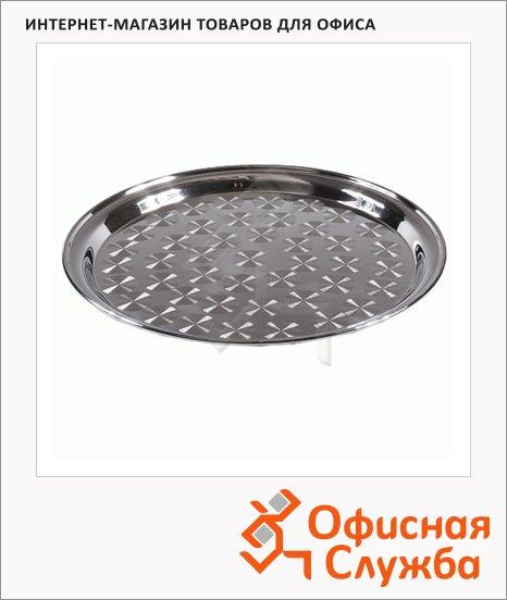фото: Поднос круглый H-Line Table Craft 35см нержавеющая сталь