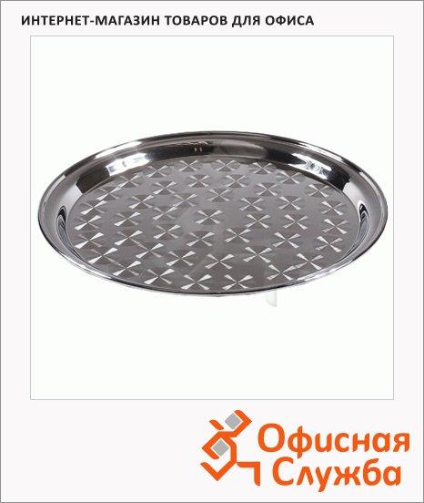 фото: Поднос круглый H-Line Table Craft 40см нержавеющая сталь