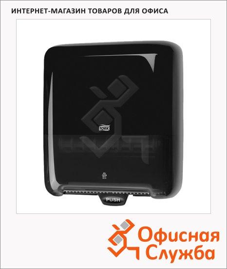 Диспенсер для рулонных бумажных полотенец Tork Elevation H1 551008, черный, 33.7х37х20см