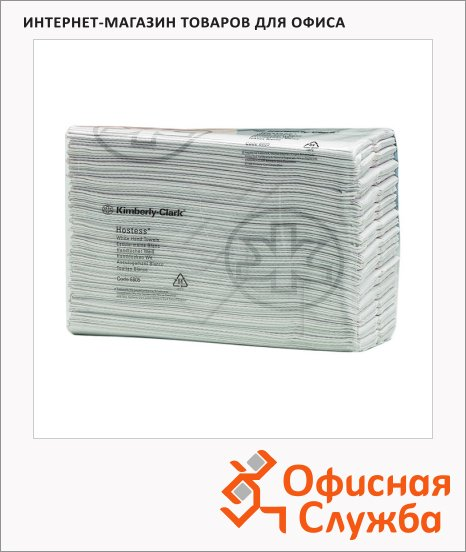фото: Бумажные полотенца Kimberly-Clark Scott Hostess 6805 листовые, 208шт, 1 слой, белые