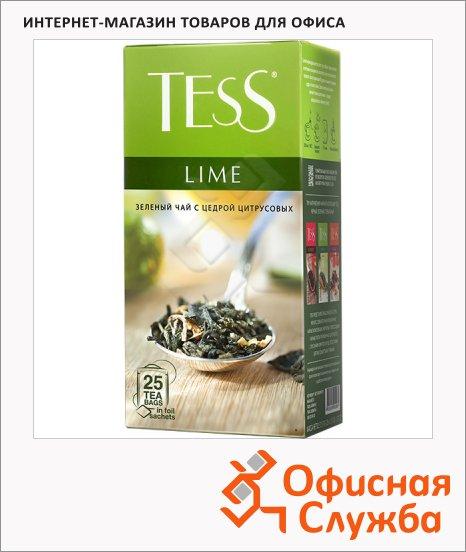 Чай Tess Green Lime (Лайм), зеленый, 25 пакетиков