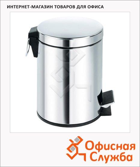 Контейнер для мусора с педалью Aro Aquarius 20л, круглый, стальной