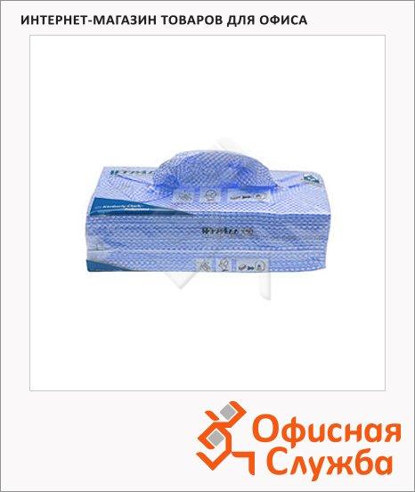 Протирочные салфетки Kimberly-Clark WypAll Х50 7441, листовые, 300шт, 1 слой, синие