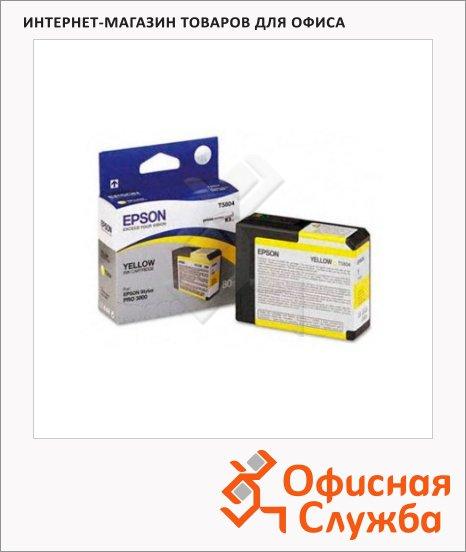 Картридж струйный Epson C13 T580400, желтый