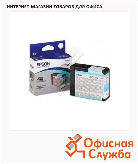 фото: Картридж струйный Epson C13 T580500 светло-голубой
