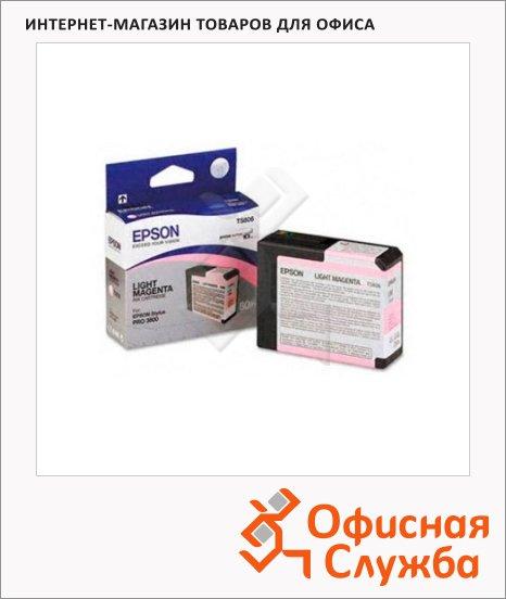 фото: Картридж струйный Epson C13 T580600 светло-пурпурный
