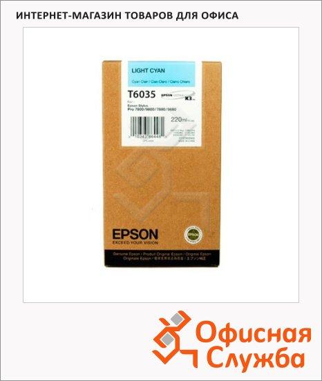 фото: Картриджи струйные Epson C13 T603500 светло-голубой