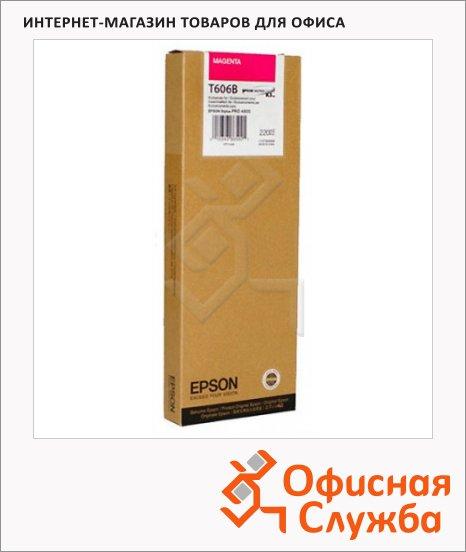 фото: Картридж струйный Epson C13 T606B00 пурпурный