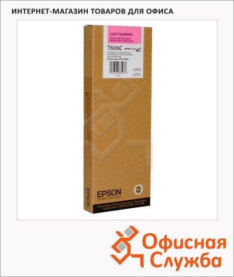 Картридж струйный Epson C13 T606C00, светло-пурпурный