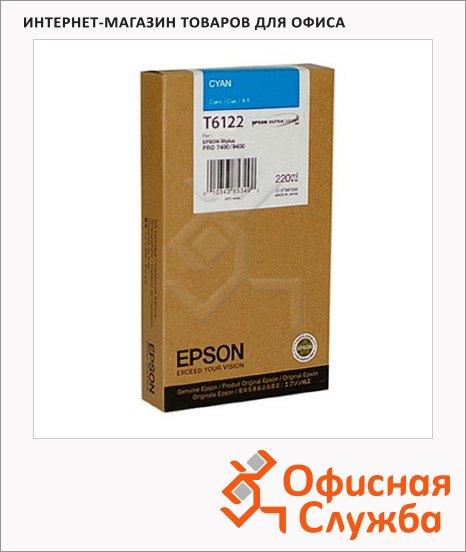 фото: Картридж струйный Epson C13 T612200 голубой
