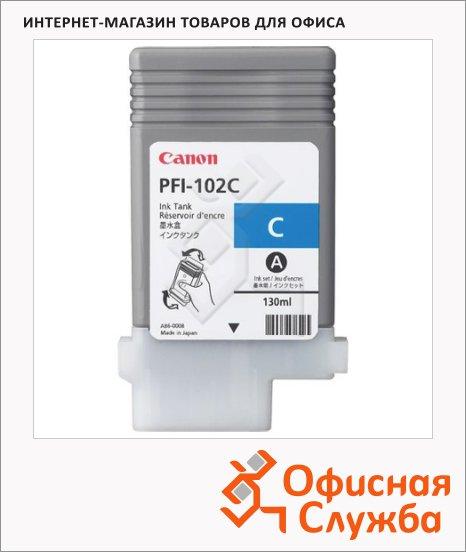 фото: Картридж струйный Canon PFI-102C голубой