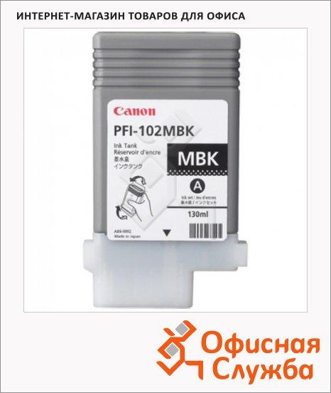 Картридж струйный Canon PFI-102MBK, черный матовый
