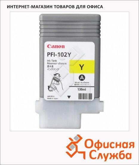 фото: Картридж струйный Canon PFI-102Y желтый