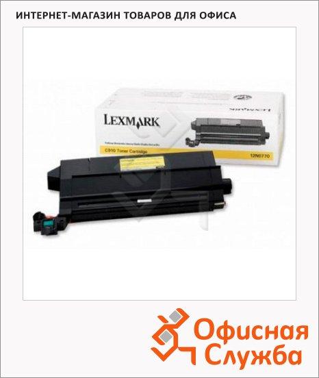 Тонер-картридж Lexmark 12N0770, желтый