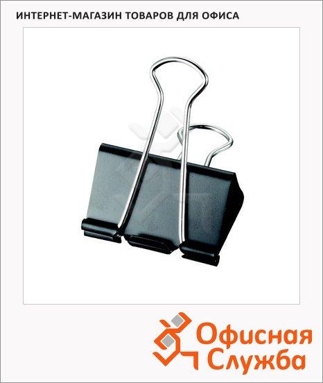 Зажимы для бумаг Maped Binder Clip 24мм, черные, 12 шт/уп